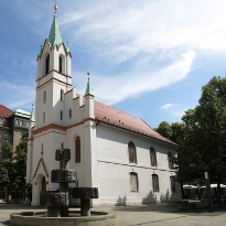 The castle church is located in the pedestrian zone, just near cafés, restaurants and bars.